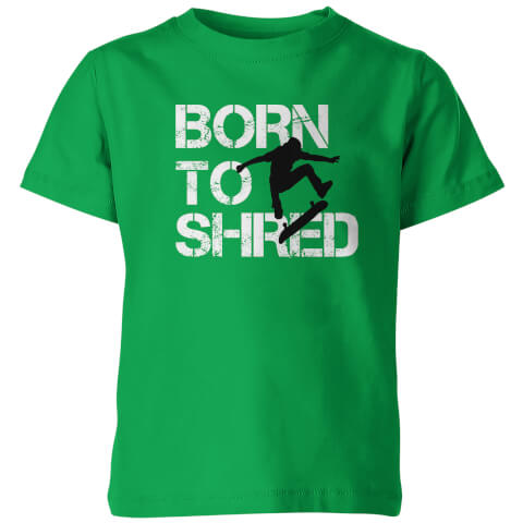 Born To Shred Kid's Green T-Shirt