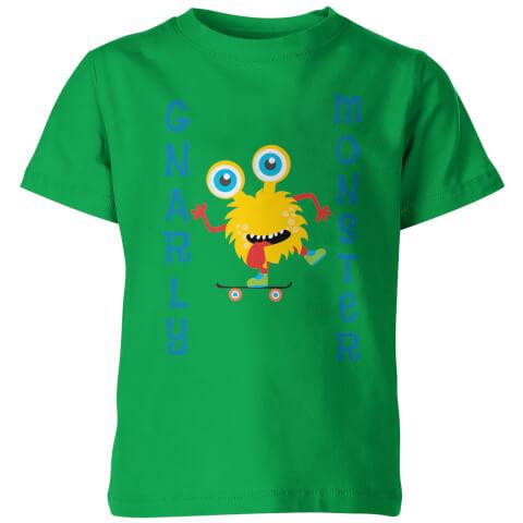 Gnarly Monster Kid's Green T-Shirt