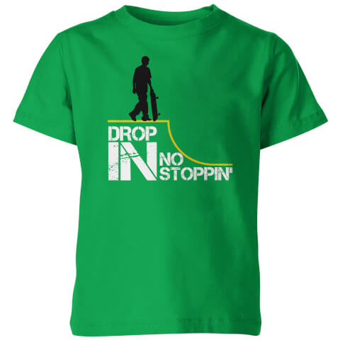 Drop In No Stoppin Kid's Green T-Shirt