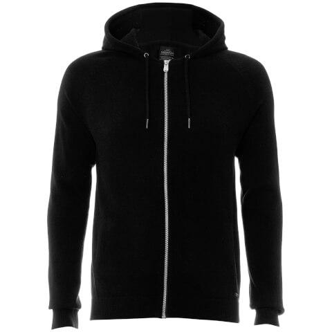 Threadbare Men's Hampton Knitted Hoody - Jet Black