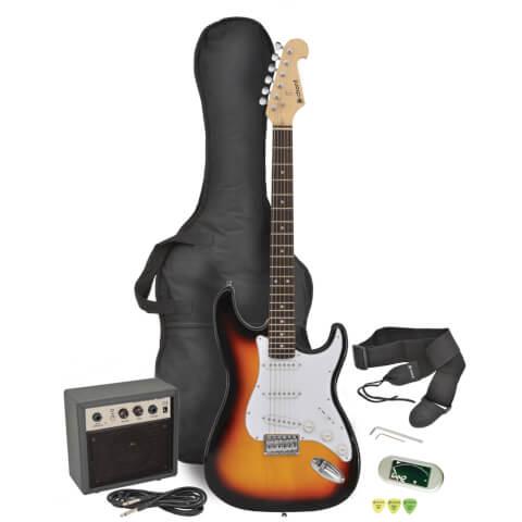 Chord CAL63PK-SB Electric Guitar and Amp Bundle - 3 Tone Sunburst