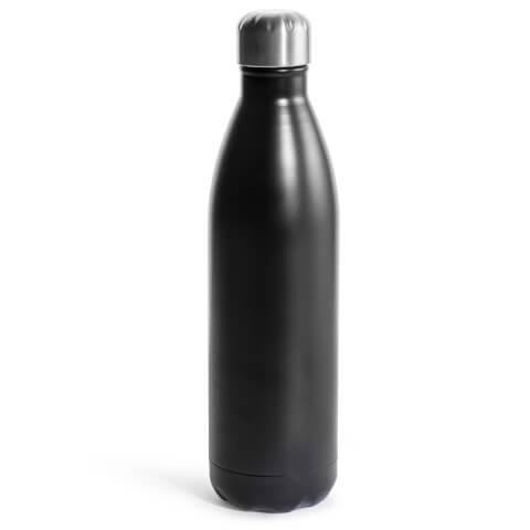 Sagaform Steel Hot and Cold Bottle - Black (75cl)