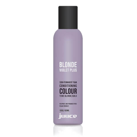 Juuce Blonde Violet Plus Semi-Permanent Foam Conditioner Blonde/Gold 100g