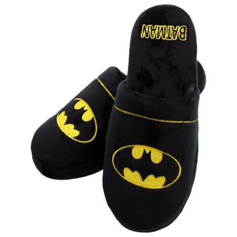 DC Comics Men's Batman Slippers - Black