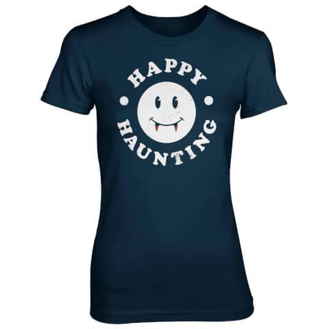 Happy Haunting Women's Navy T-Shirt