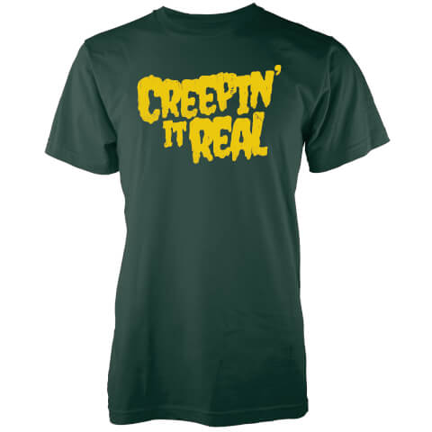 Creepin It Real Men's Forest Green T-Shirt