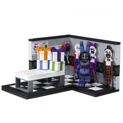 McFarlane Five Nights At Freddy's Paper Pals Party With Withered Bonnie Small Action Figure Set