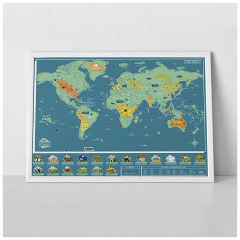 Scratch Map - Wild World Animal Edition