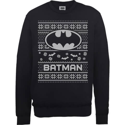 DC Comics Originals Batman Knit Black Christmas Sweatshirt