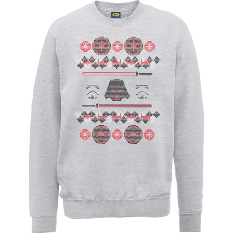 Star Wars Empire Knit Grey Christmas Sweatshirt
