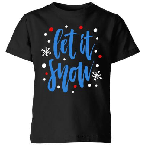 Let it Snow Kids' T-Shirt - Black