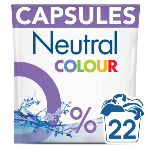 Neutral Colour Washing Capsules - 22 Wash 583g