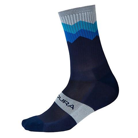 Jagged Sock - Navy