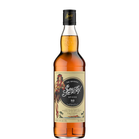 Sailor Jerry Original Spiced Caribbean Rum Blended with Natural Spices 70cl