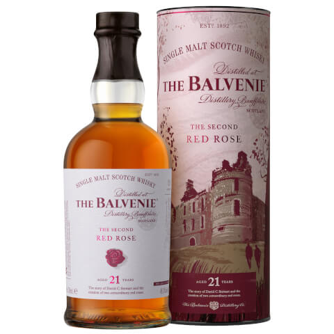 The Balvenie Stories Second Red Rose 21 Year Old Single Malt Scotch Whisky 70cl