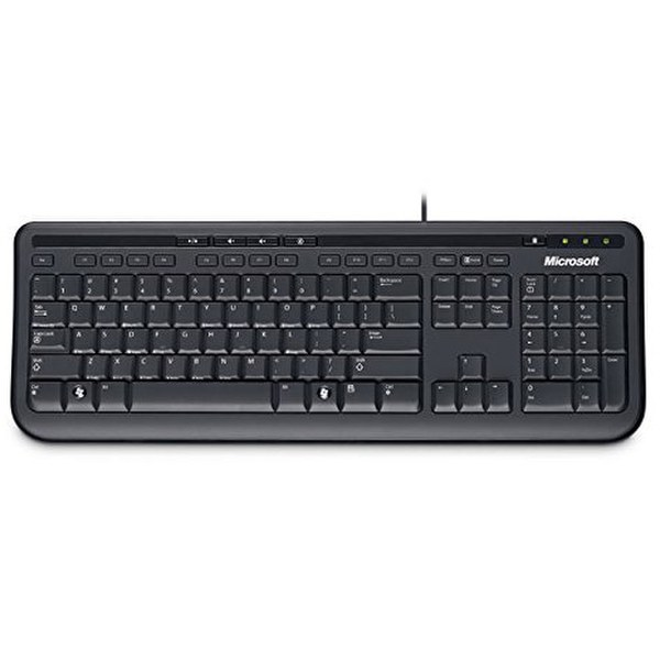 microsoft wired keyboard 600 usb black games accessories zavvi. Black Bedroom Furniture Sets. Home Design Ideas