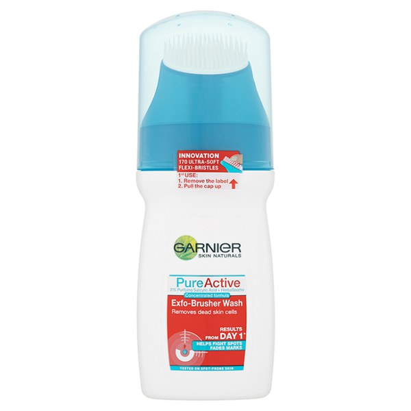 Garnier Pure Active Exfo-brusher Face Wash (150 ml)