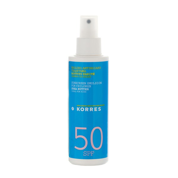KORRES Shea Butter Sunscreen Emulsion For Children SPF50 (150ml)