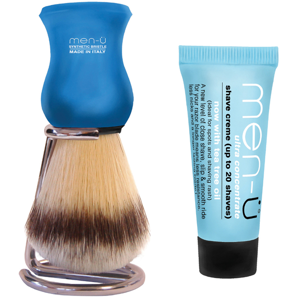 men-ü DB Premier Shave Brush med Chrome Stand - Blue