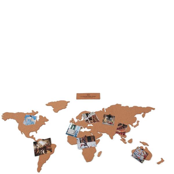 Cork board world travel map gifts zavvi cork board world travel map image 2 sciox Image collections