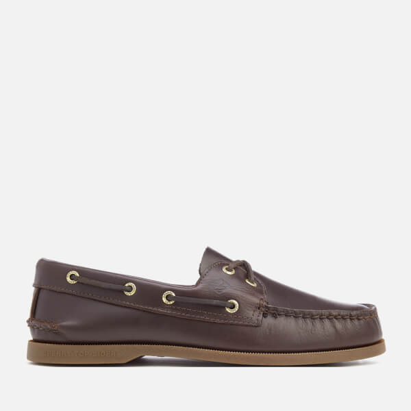 Sperry Men's A/O 2-Eye Leather Boat Shoes - Amaretto