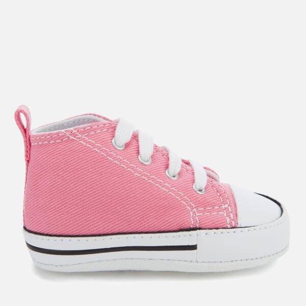 0a3da9cc8af0e Converse Babies Chuck Taylor First Star Hi-Top Trainers - Pink  Image 1
