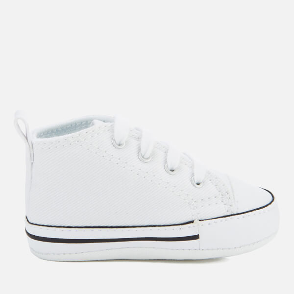 afbf24aee8b81 Converse Babies Chuck Taylor First Star Hi-Top Trainers - White  Image 1