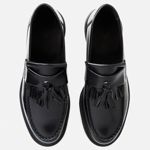 Dr. Martens Adrian Polished Smooth Leather Tassle Loafers - Black