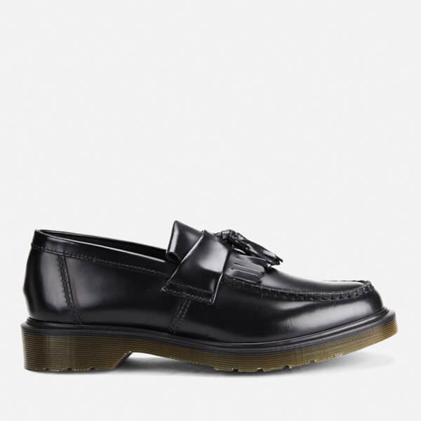 7e37b6c9f22 Dr. Martens Men s Adrian Pw Polished Leather Loafers - Black  Image 1