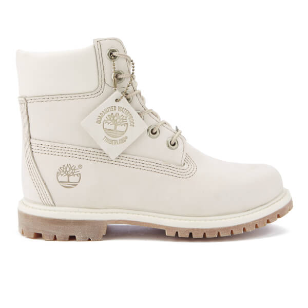 Timberland Women's 6 Inch Premium Boots - Winter White Waterbuck
