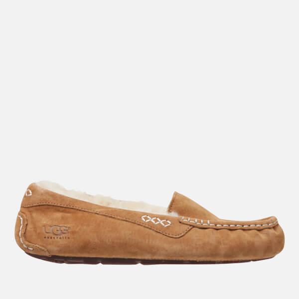 a1086e16c34 UGG Women s Ansley Moccasin Suede Slippers - Chestnut  Image 1