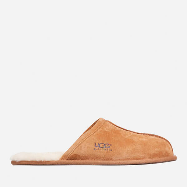 UGG Men's Scuff Suede Sheepskin Slippers - Chestnut - UK 7 cmFH7P