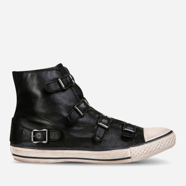 Ash Women's Virgin Leather Hi-Top Trainers - Black: Image 1