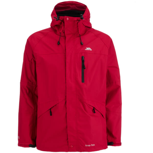 Trespass Men's Corvo Waterproof Jacket - Red Sports & Leisure ...