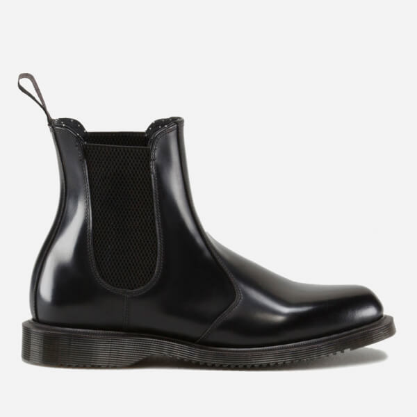 ce5280e8625 Dr. Martens Women's Flora Polished Smooth Leather Chelsea Boots - Black:  Image 1