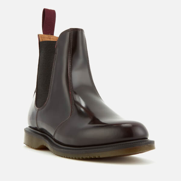 Dr. Martens Women's Flora Arcadia Leather Leather Chelsea Boots   Cherry Red by Dr. Martens