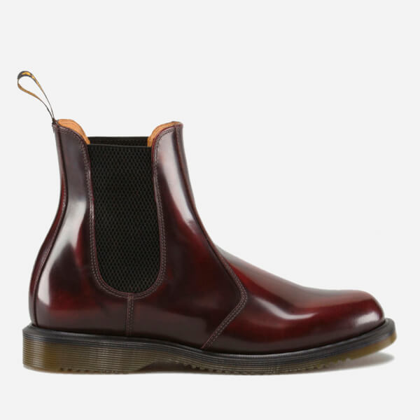 Dr. Martens Women's Kensington Flora Arcadia Leather Chelsea Boots - Cherry Red