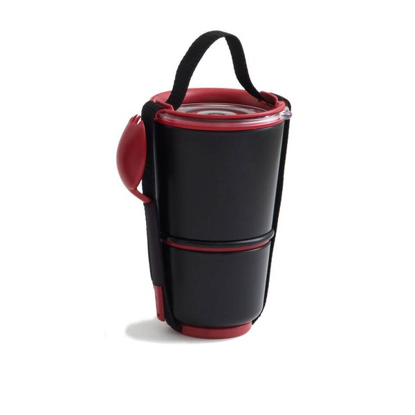 Black+Blum Lunch Pot - Black & Red