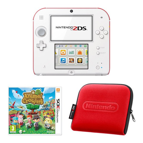 Nintendo 2ds White Amp Red Console Bundle Includes Animal Crossing New Leaf Nintendo Official