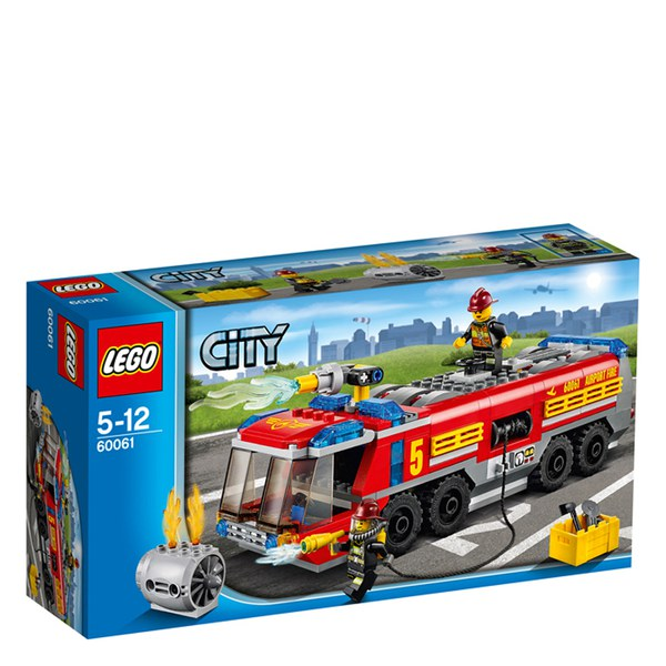 lego city great vehicles airport fire truck 60061 image 1 - Lego City Pompier