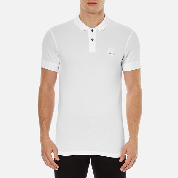 BOSS Orange Men s Pascha Slim Block Branded Polo Shirt - White - Free UK  Delivery over £50 75cb0483024e7