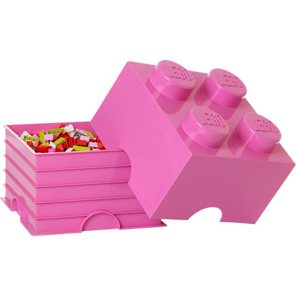 LEGO Storage Brick 4 - Pink Toys | Zavvi