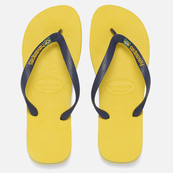 9ac599c6d94 Havaianas Unisex Brasil Logo Flip Flops - Citrus Yellow