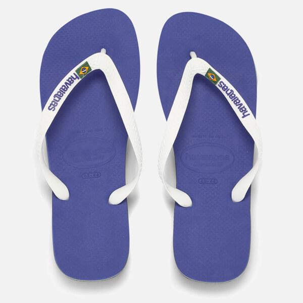 Havaianas Brasil Logo Flip Flops - Marine Blue