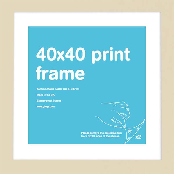 Beech Frame 40 x 40cm Print