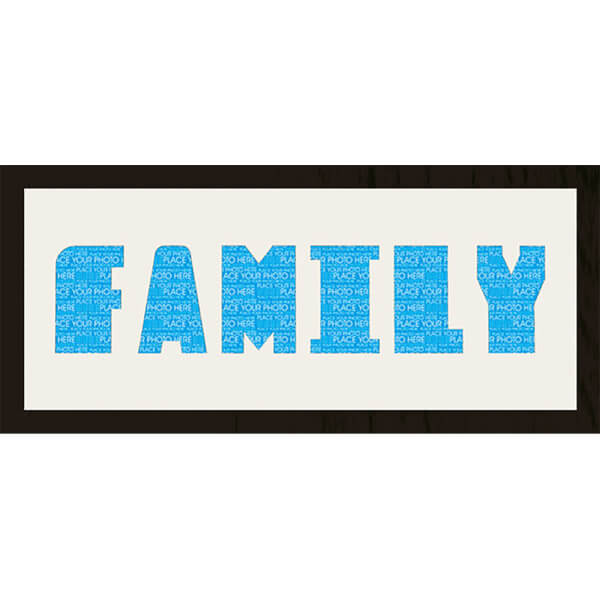 GB Cream Mount Family Photo Font - Framed Mount - 12