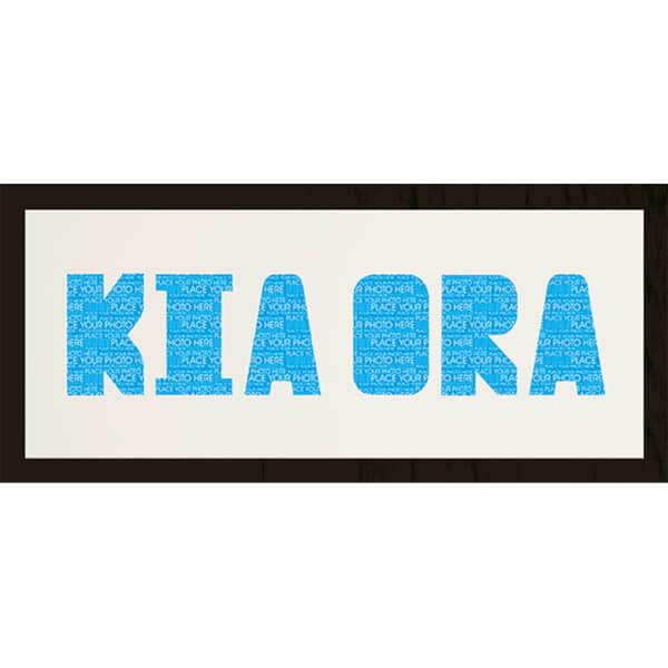 GB Cream Mount Kia Ora Photo Font - Framed Mount - 12