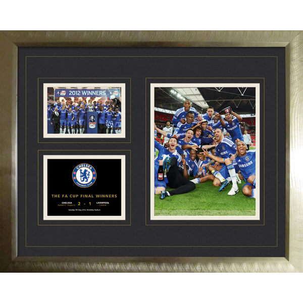 Chelsea FA Cup Winners 11/12 - High End Framed Photo - 16