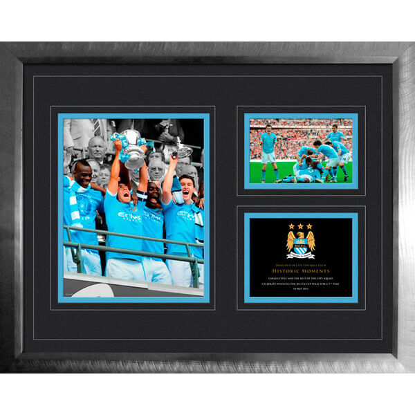 Manchester City FA Cup Win 2010 - 2011 - High End Framed Photo - 16