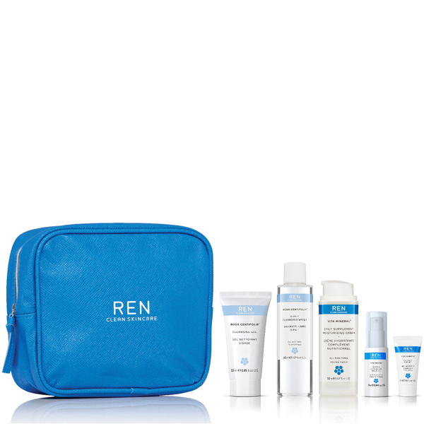 REN Cleanse, Tone, Hydrate and Nourish Kit (Worth $66)